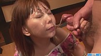 Minami Kitagawaґs foursome ends in an asian cum facial - More at javhd.net video