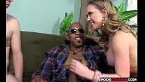 Sexy HotWife Kagney Linn Karter Gets Fucked By BBC While Cuckold Wckold Watching thumbnail