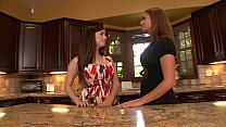 Sexy lady lover Taylor Vixen and Elexis Monroe undress and suck each other's pussies on the kitchen counter