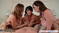 Cougars Charlee Chase, Holly Halston and Sara J...