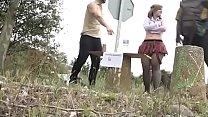 A Kinky Babe Gets Pilgrims Horny At Santiago's