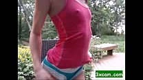 teen camgirl outdoor hitachi and squirt show