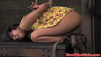 Tied up bdsm sub flogged by dominator video