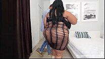 Busty Black BBW Cotton Candi Monster Ramon porn thumbnail