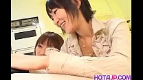 Young Slut Myu And Her Friend Share A Small Dick For A Creamy Load | more at hotajp.com thumbnail