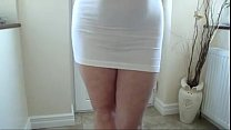 Image: mature booty in short white dress - www.pormo.co