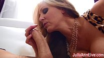 Busty Milf Julia Ann Gets Tits Covered in Cum! video