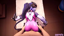 Widow clap ass