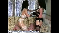 Stocking Catfight Kelly vs Angela 2