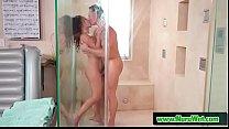Curly masseuse Liv Revamped sucking her client Marcus London during nuru massage pornhub video
