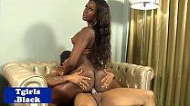 Ebony transexual spunk sprayed