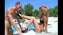 Femdom foot slave