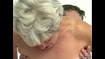 Hairy granny pussy filled with younger dick Image