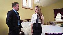 Sex Hungry Blonde Air Hostess Offers Her Tight Ass