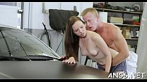 Pretty Yasmin gets shaved slit slammed