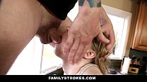 FamilyStrokes - Cute Sis Fucks Her Way Out Of Trouble image