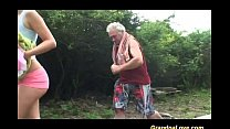 grandpa loves teen sex in nature video