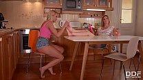 Hot Sex in the Kitchen with stunning Lesbians Cherry Kiss & Alice Vorschaubild