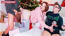 LETSDOEIT - Teen Babe Rebeca Black Has Threesome Christmas Sex After Photo Shoot