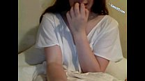 Shy teen seduced to show her perfect tits on cams22.com