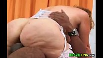 Fat Grandma From Brazil Rides The Cock