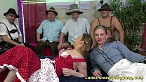 wild lederhosen swinger fuck orgy