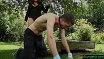 Plumper Domina  Punishing Her Slave lave