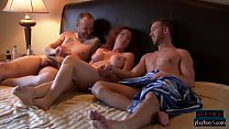 Open minded amateur couple look for a threesome experience thumbnail