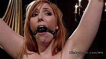 Busty mistress anal breaks redhead slave Thumbnail