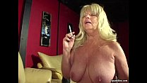 Big titted smoking granny sucks hard cock Thumbnail