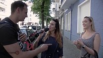 HITZEFREI Cute blonde finds random guy on street video