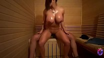 Big boobs puertorican wife fucks a dude in the sauna Preview