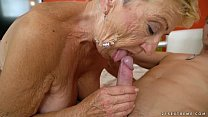 Old granny fucks the young mechanic - Lusty Grandmas preview image