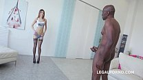 Ginger Fox gets deep fucked and gaped non stop with Big Black cock