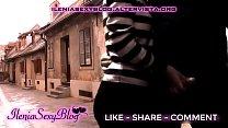 Sexy Handjob to a Stranger in a Public Road - IleniaSexyBlog