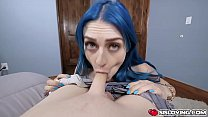 Stepsis Jewelz Blu gets turned on and horny and...