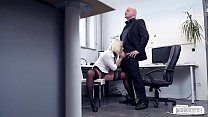 BUMS BUERO - Busty German blondie Lilli Vanilli fucked hard in the office image