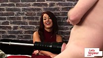 UK babe instructs sub to wank with machine preview image