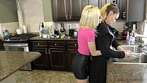 Bratty Blonde Fucks Her Stepfather and Cuckolds Her Mother - Kiara Cole thumbnail