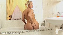 After bath blowjob for submissive blonde girl
