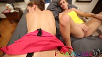Paradise Gfs - Twins get fucked together in hot... Thumbnail