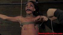 Tied up ebony Nikki Darling tormented video