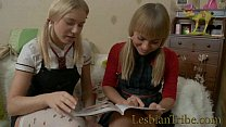blonde teens lesbians fucking anal with strapon