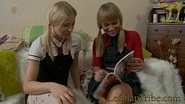 blonde teens lesbians fucking anal with strapon thumbnail