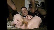 Quickie afternoon anal dildo session: dark stockings