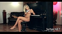 Stunning solo angel in a hot play image
