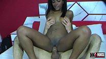 The ebony Samira Ferraz takes an anal sex class...