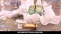MyBabySittersClub - Hot Babysitter Seduces And Fucks New Boss image