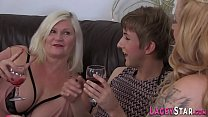 Granny Banged By Sybian Riding Tranny