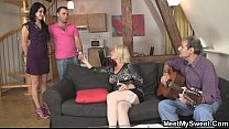 Sweetie gets lured into threesome by her BF's parents video